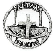 Church Altar Server Pewter Lapel Pin