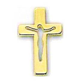 Risen Christ Crucifix Pin Gold Plated