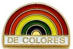 De Colores Rainbow Pin