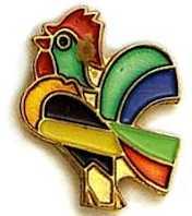 De Colores Rooster Lapel Pin