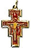 Colored Photo Crucifix Necklace