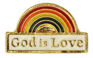 God is Love De Colores Rainbow Pin
