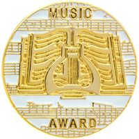 Music Award Pins Gold