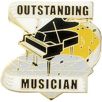 OutStanding Musician Pin  Gold