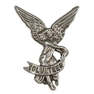 Volunteer Angel Pin Pewter