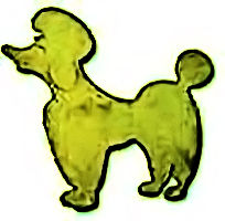 Gold Finish Poodle Pin