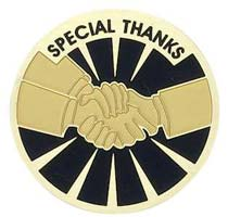 Special Thanks Handshake Pins