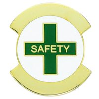 Safety Award Pin Gold