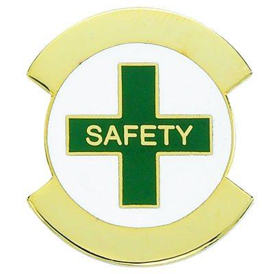 safety award pin gold