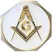 Gold Plated Masons Lapel Pin