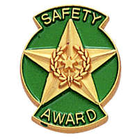 Safety Award Lapel Pin Gold