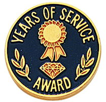 Years of Service Gold Plated Pin