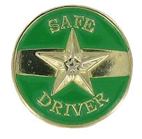Safe Driver Pin Gold Green