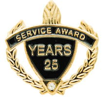 Gold Years of Service Award Pin 5-30