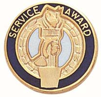 Service Award  Pin Gold Plated