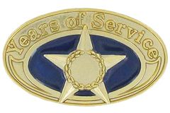 Years of Service Star Oval Gold Pin