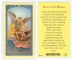 St Michael Laminated Prayer Card