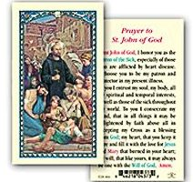 Saint John Prayer Card Heart Disease