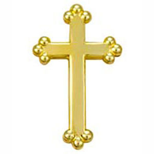 Budded Cross Lapel Pin (Pkg of 4)