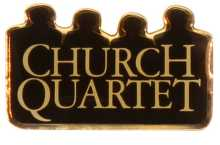 Church Quartet Pins Gold Plated