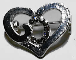 God's Heart Pin - Third quality Pack of 6