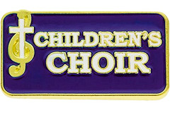 Children's Choir Pin Square  red