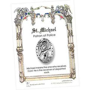St. Michael Pray For Us Pin Card