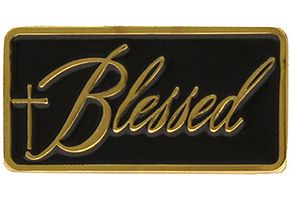 Blessed Lapel Pin  Gold