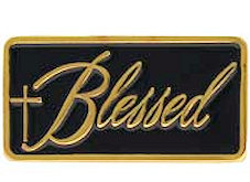 Blessed Lapel Pin Gold with Cross
