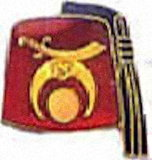 Gold Red Shriners Club Pin (12)