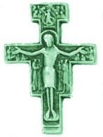 San Damiano Cross Lapel Pin Gold Crucifix Pin