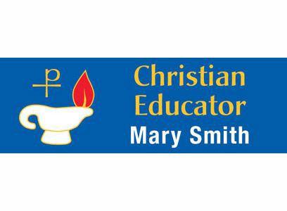 Catholic Magnetic Christian Educator Badges