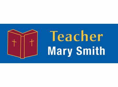 Catholic Magnetic Teacher Badges