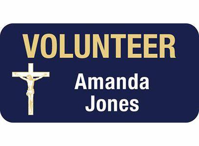 Custom 3 inch Catholic Leader Volunteer Magnetic Badge