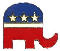 Republican Party Elephant Pin