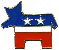 Democratic Party Donkey Pin