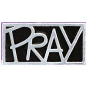 Pray Silver Lapel Pins Carded (Pkg of 12)