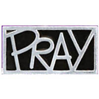 Pray Silver Lapel Pins  Carded (12 Pins)