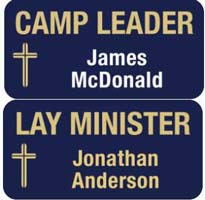 Camp Leader Magnetic Badges
