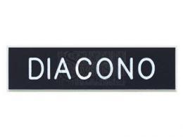 Spanish DIACONO (Deacon) Badge Black