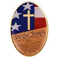 We the People Cross Christian Lapel Pin