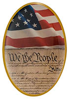 We the People Flag Constitution Pin