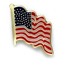 Waving American Flag Pins (Pkg of 12)