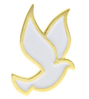 White Dove Holy Spirit Pin