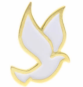 White Dove Pin Holy Spirit