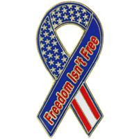 Freedom Isn�t Free Ribbon Lapel Pin