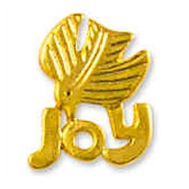 Joy Dove Lapel Pin - Jesus Christmas Pin