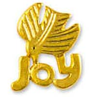 Joy Dove Christmas Pin