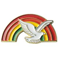 Christian Dove & Rainbow Pin