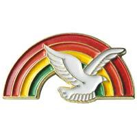 Dove & Rainbow Pin